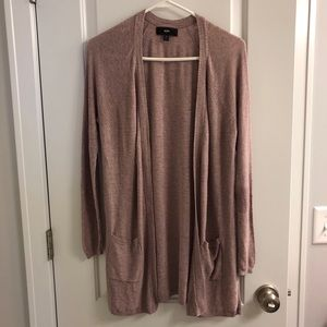 Dark blush colored Mossimo cardigan, size L